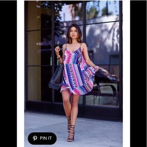 Express NWT bright geometric dress S